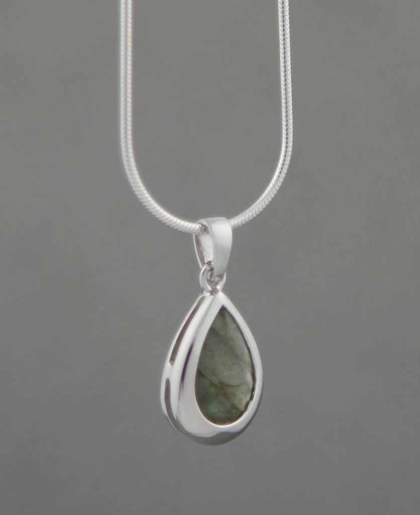 Gemstone Teardrop Charm Pendants