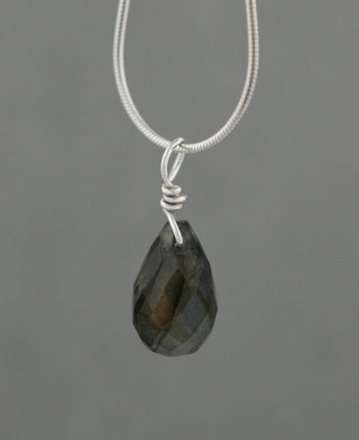 Gemstone Drop Pendant