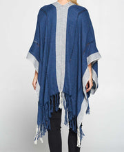 Washed Blue Poncho