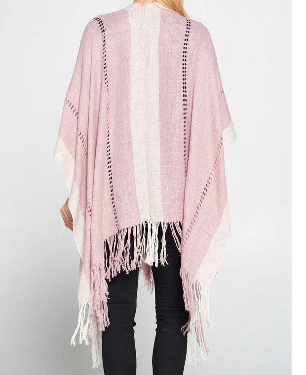 Dusty Rose Poncho