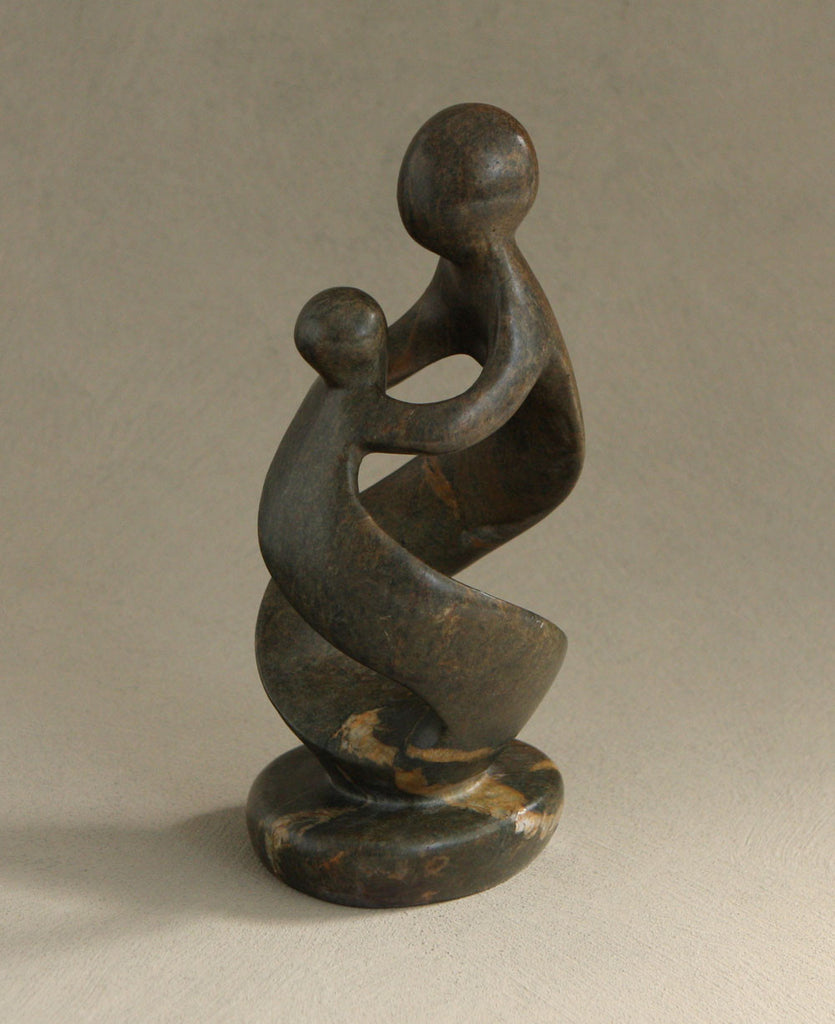 Mother and Child Fair Trade African Stone Statue