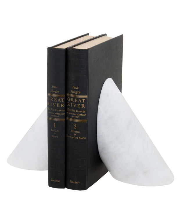 Pearl White Bookends