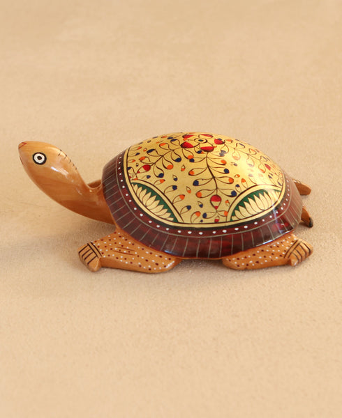 Wooden Turtle Statue