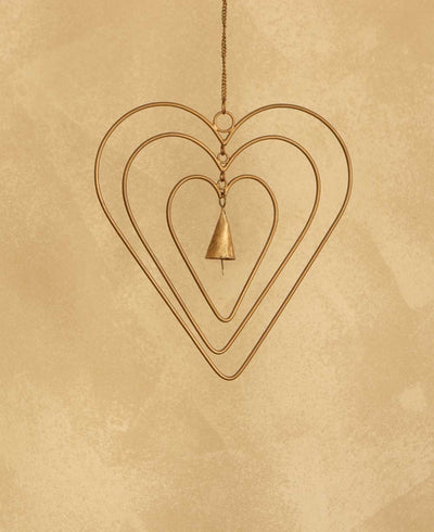 Fair Trade Indian Bell Heart Chime