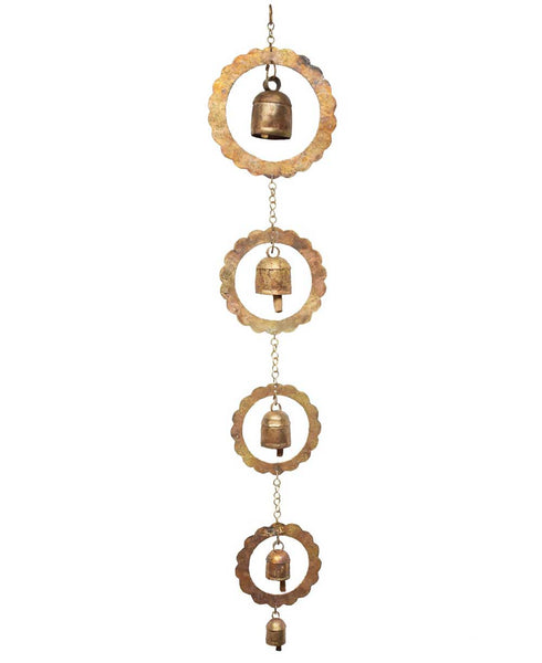 Fair Trade Blossom Chime with Indian Bells