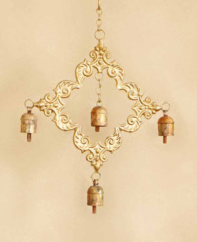 Fair Trade Indian Sona Bell Chime, Brass Bell