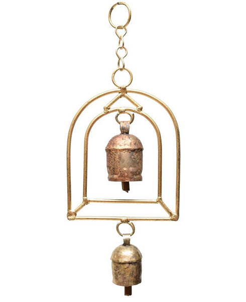 Brass Sangeet Chime with Traditional India Bells