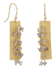 Labradorite Bead Earrings