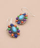 Multicolored Gemstone and Sterling Silver Earrings