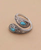 Turquoise Filigree Wrap Ring