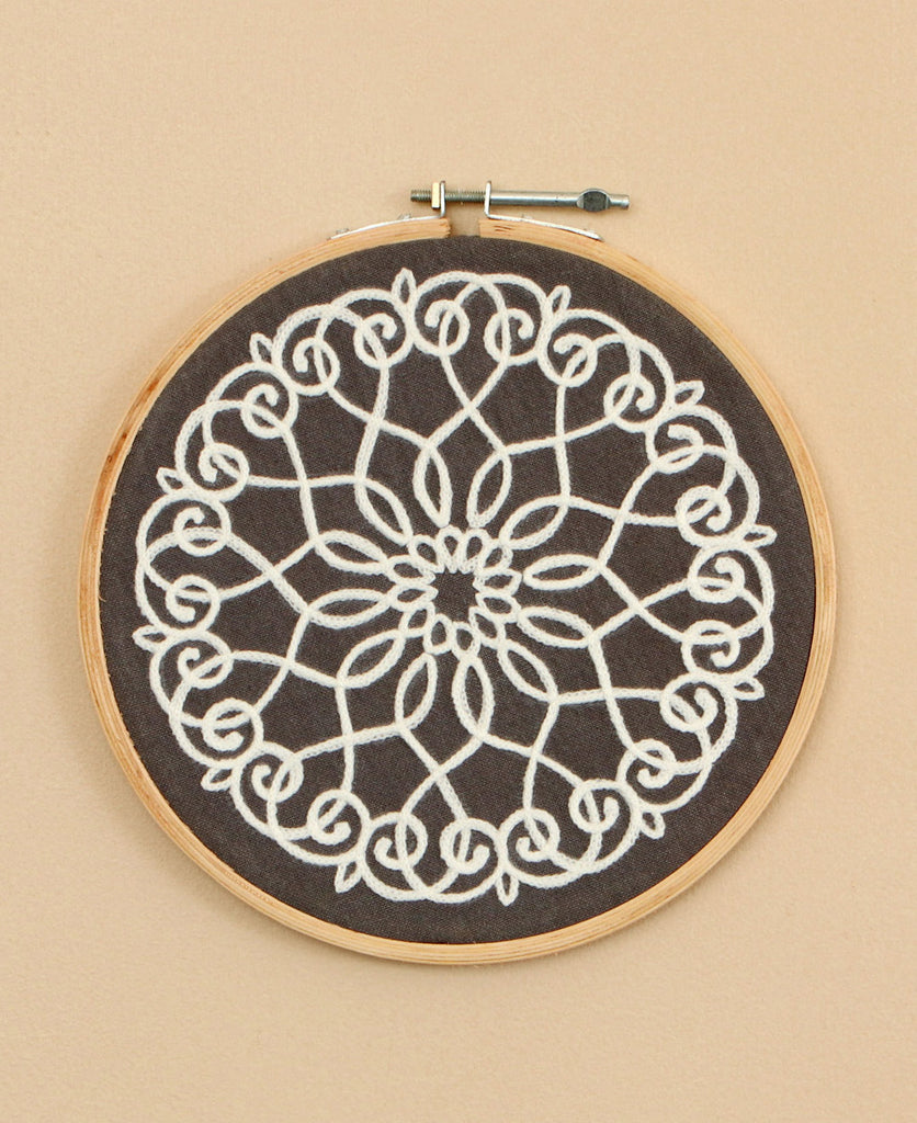 Hand-Embroidered Hoop Art, India