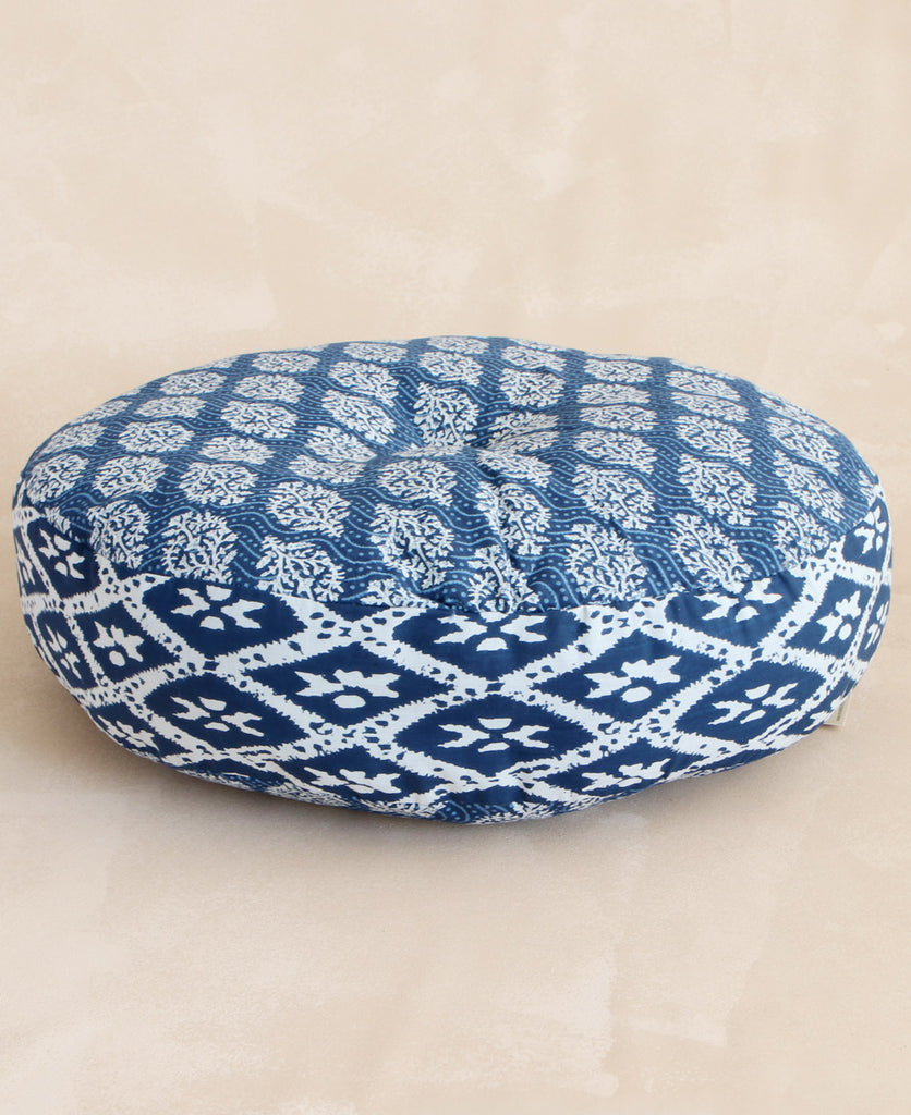 Indigo Paisley Floor Cushion, India