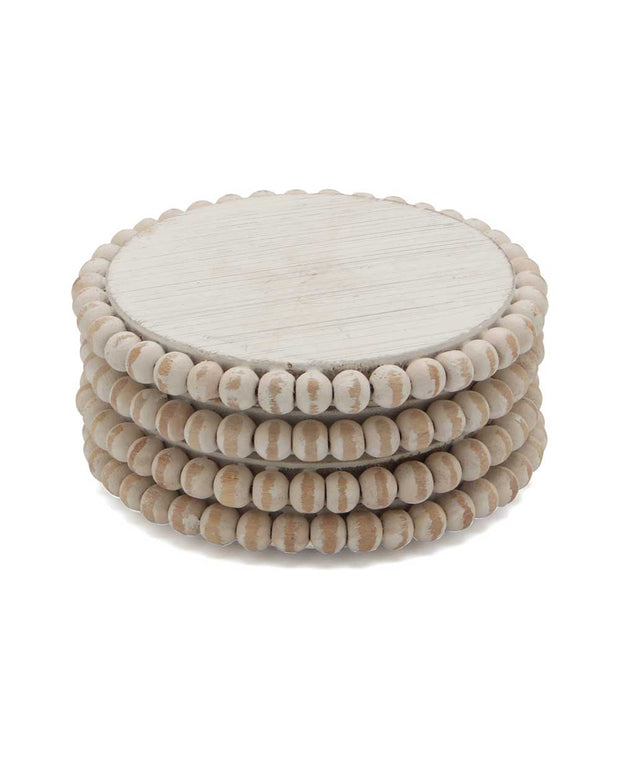 Wood Beaded Coasters