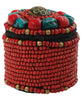 Elaborate Beaded Tibetan Trinket Box