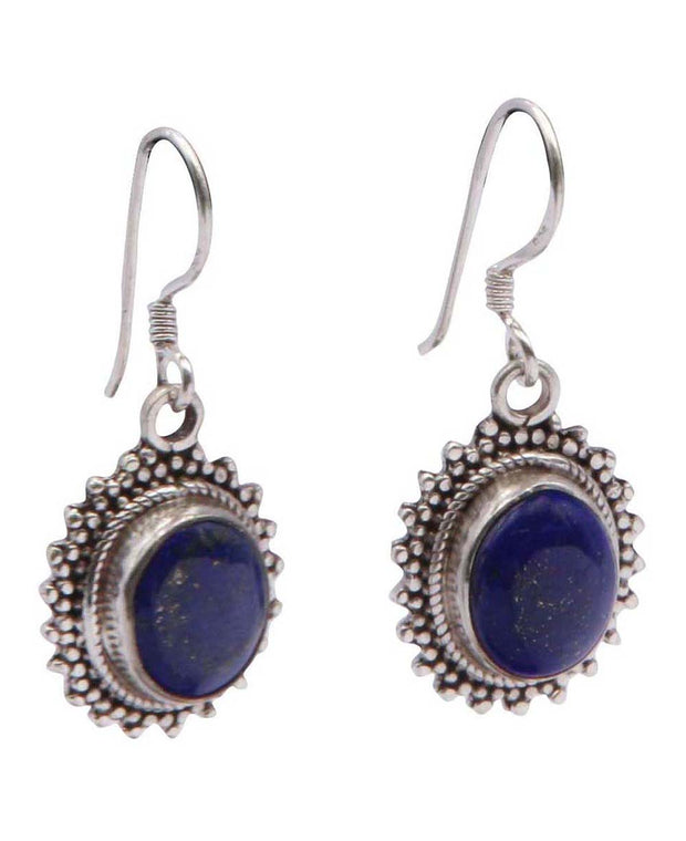 Lovely Lapis Regal Gemstone Earrings