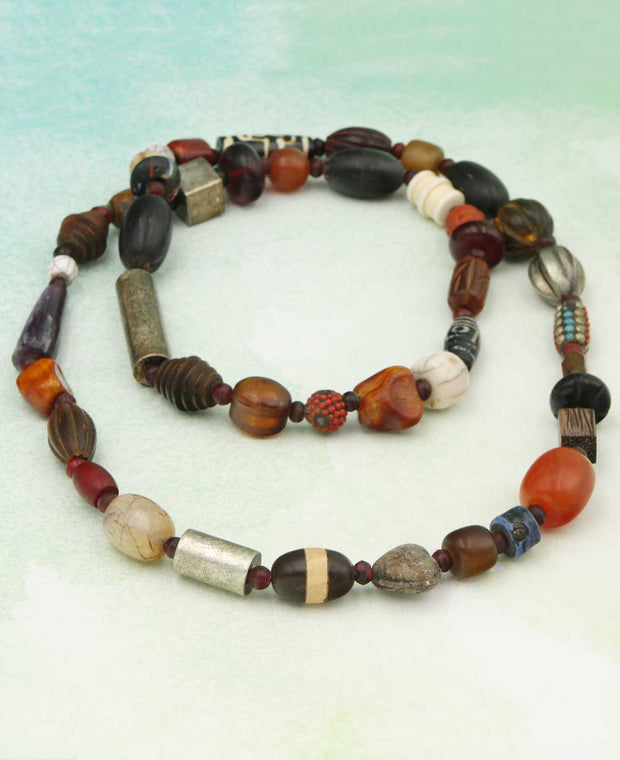Tibetan Tribal Bead Necklace