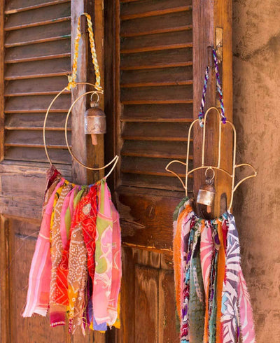 Recycled Sari Indian Chime