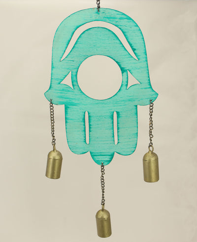 Hamsa Patina Wind Chime, Fair Trade