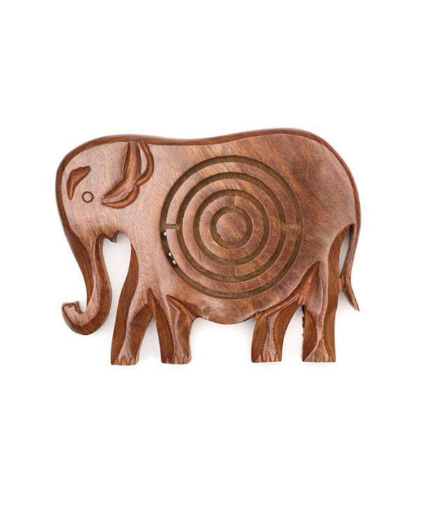 Handmade Wood Elephant Maze Game, India