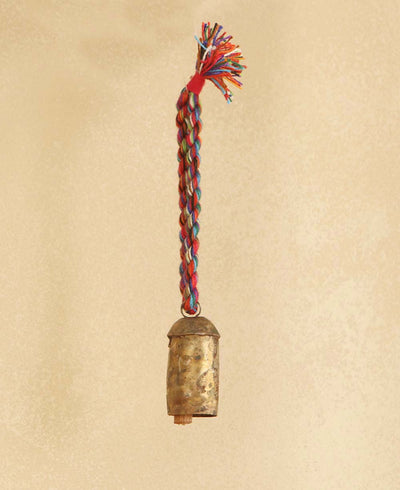 Rainbow Indian Bell Ornament, Fair Trade