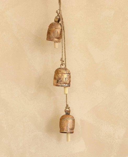Rustic Bell and Rope Chime, India