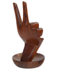 In Good Hands Wood Statue and Jewelry Holder