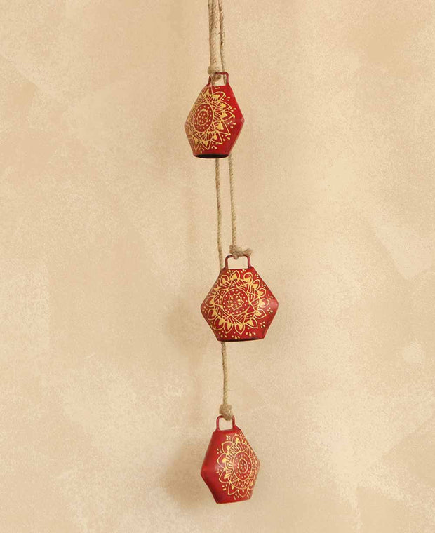 Red Indian Henna Bells