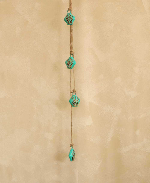 Teal Henna Indian Bells, Fair Trade