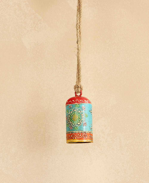 Multicolored Indian Henna Bell, Fair Trade
