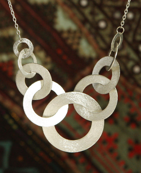 Interconnect Silver Link Necklace, India