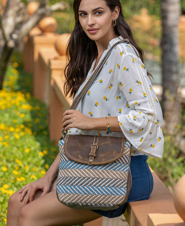 Yaatra Herringbone Crossbody Bag