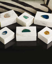 Agate Stone Boxes