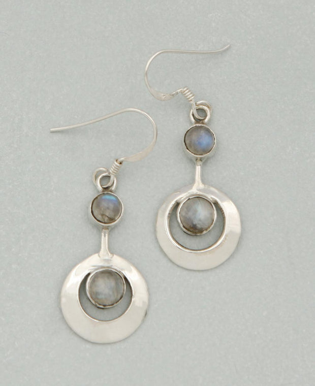 Sterling Silver Gemstone Kinetic Earrings