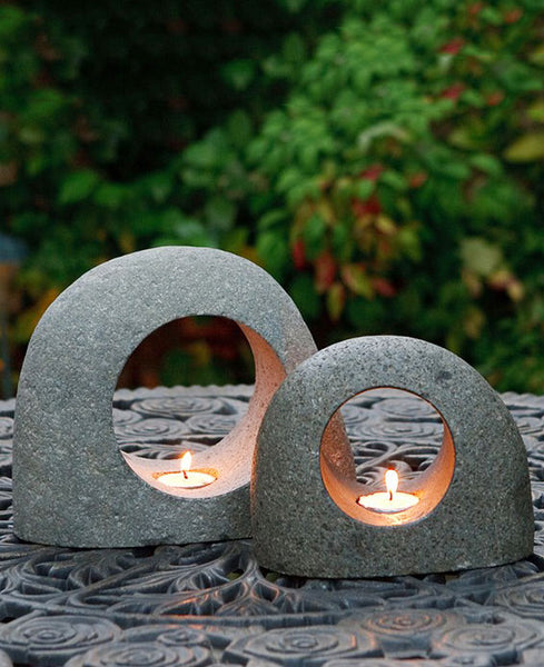 Stone Moon Tealight Holders