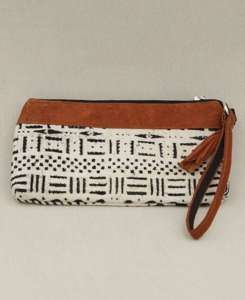 Mud cloth Wristlet