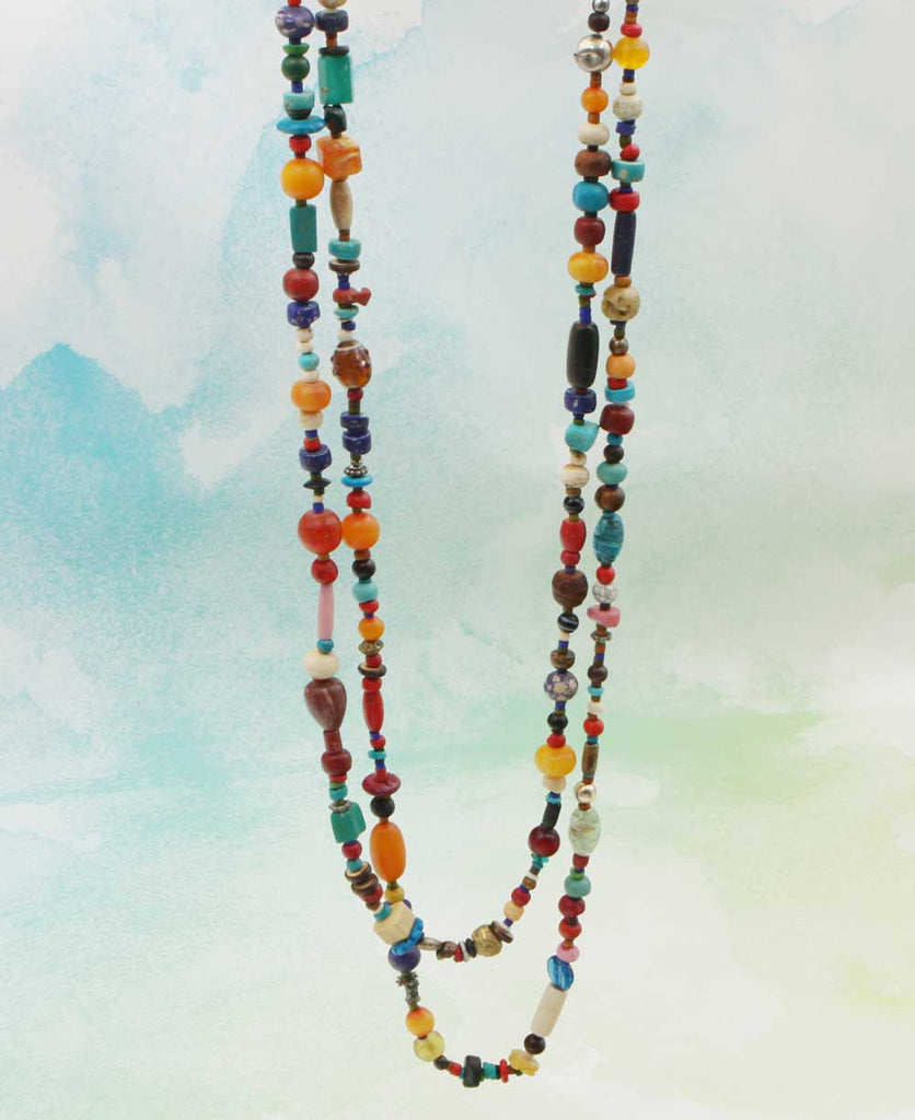 Multicolor Beaded Tibetan Festival Necklace, Nepal