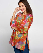 Floral Pop Tunic Top