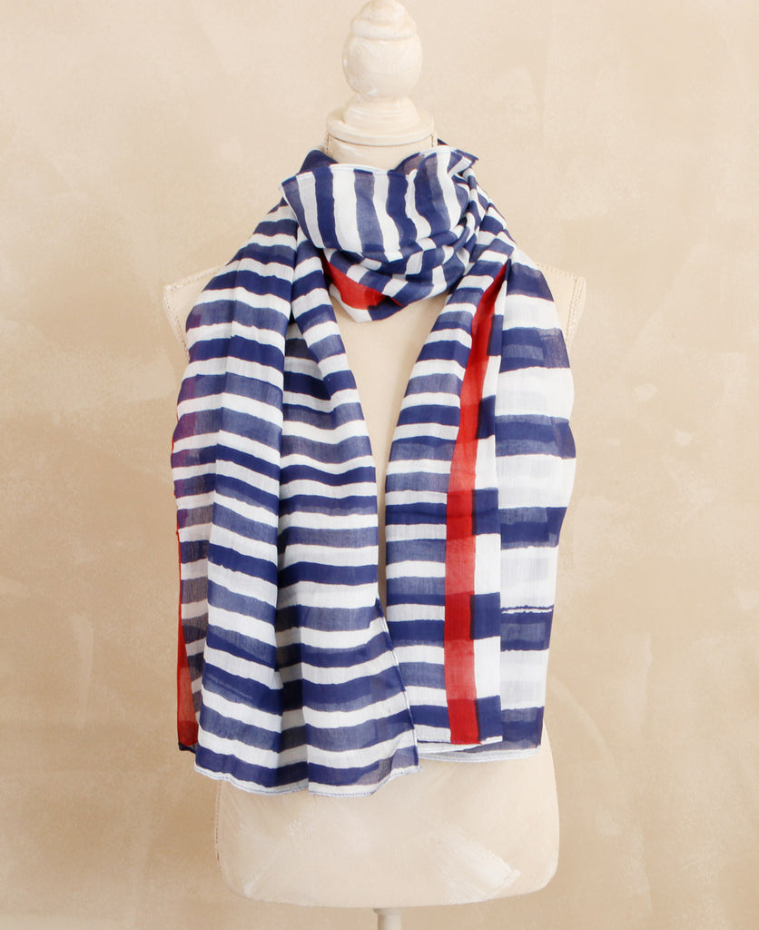 Modern Striped Scarf