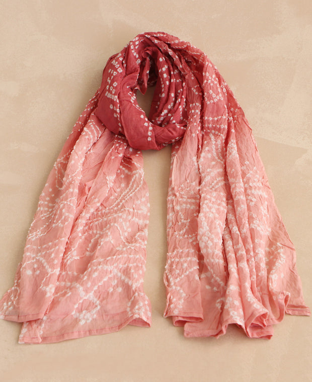 Ombre Bandhani Scarves, India