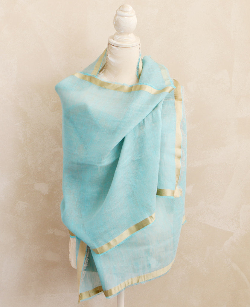 Silk and Linen Thai Stole