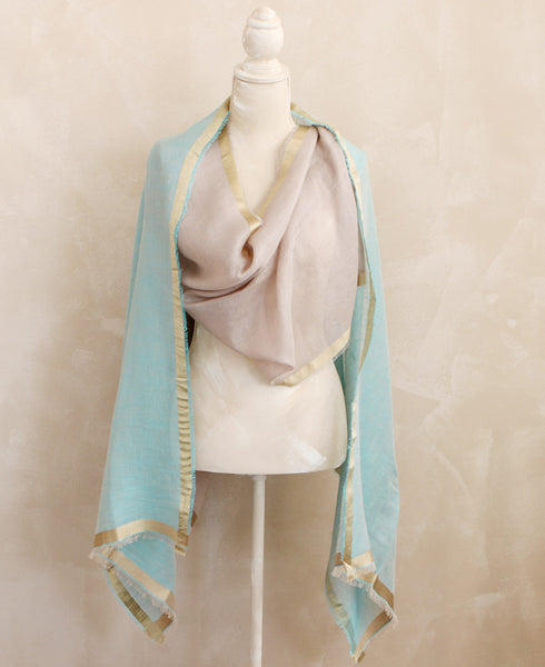 Thai Linen and Silk Scarf