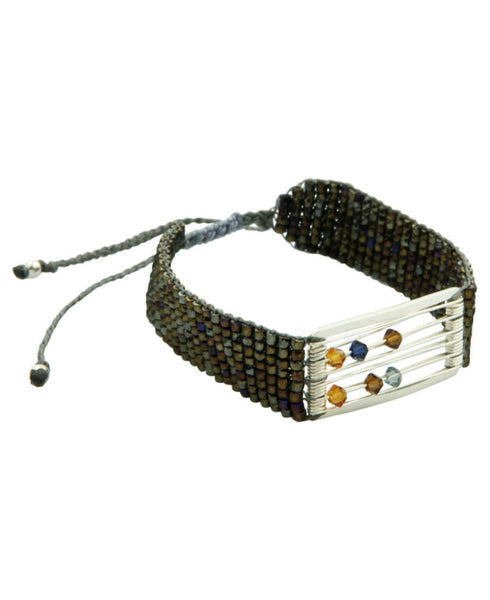 Colombian Sliding Crystal Bead Bracelet