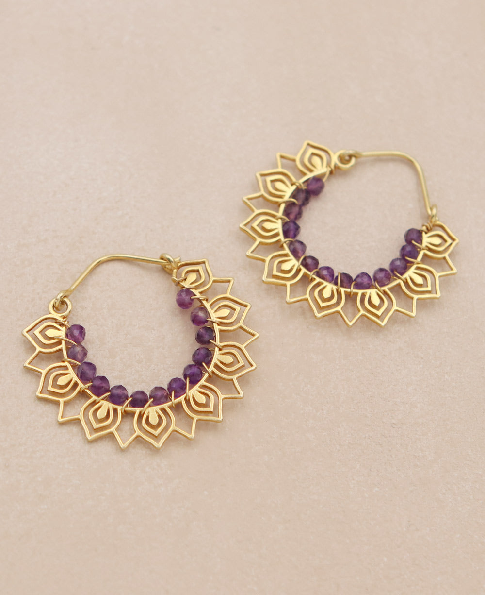 32e0d3ade Beaded Floral Hoop Earrings, India – Cultural Elements