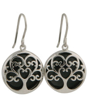 Tree of Life Onyx Gemstone Earrings