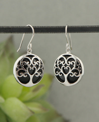 Tree of Life Gemstone Earrings