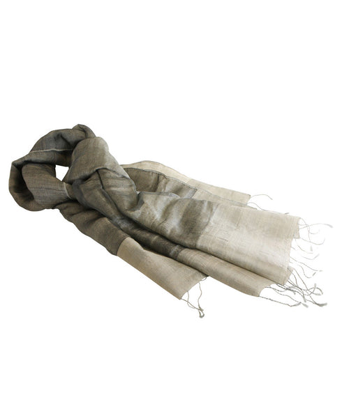 Silver and Grey Tussar Scarf