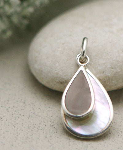 Spring Dewdrops Pendant with Mother of Pearl