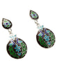 Palace Peacock Sterling Silver Meenakari Earrings, India