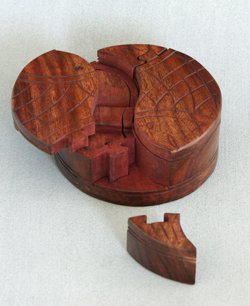 Manu's Fish Indian Wooden Puzzle Box