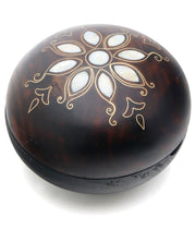 Mother of Pearl Inlay Round Wood Trinket Boxes